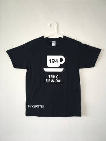 TEH C SIEW-DAI tshirt; front view; cup with saucer; hot drink number 194;